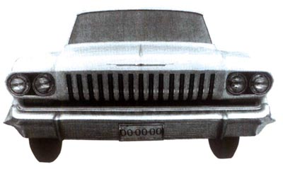 A revised grille, straightened A-pillars, and horizontal body creases defined the 1963 Impala.