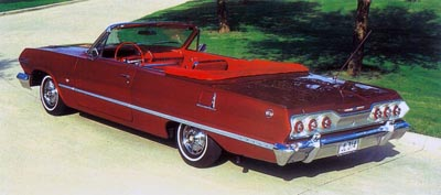 This 327-powered convertible is one of 153,271 1963 Impalas ordered with the SS option.