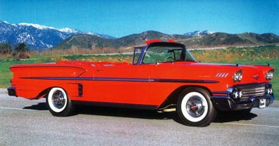 Part of the Bel Air series, the 1958 Chevrolet Impala came two ways, including a convertible.
