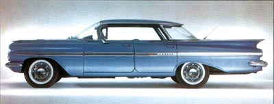 Four-doors, like this 1959 Impala hardtop, helped to more than double demand for Impalas.