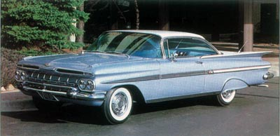 In 1959, the Impala sport coupe was the only Chevrolet two-door hardtop.