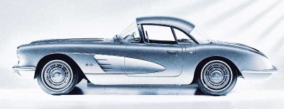 The 1958 Corvette featured a flashy look that helped Corvette set sales records for the year.