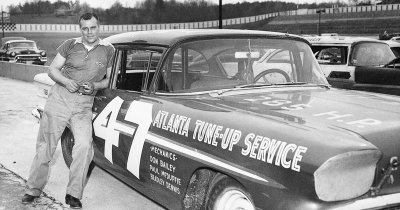 NASCAR driver Jack Smith built a 1958 Pontiac, but the car was wiped out at Darlington.