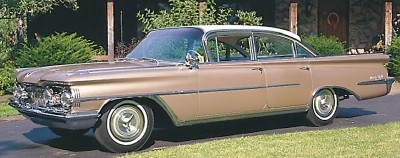 This 1959 Oldsmobile 98 Celebrity sedan was part of the 1959-60 Oldsmobile 98 and Super 88 line.