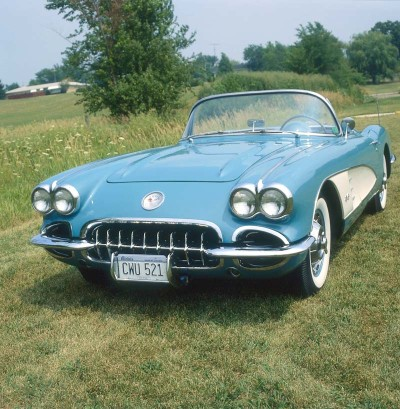 The 1959 Corvette changed little from the '58 model.