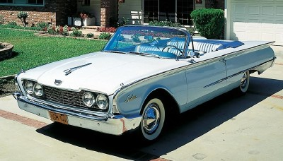 The 1960 Ford Galaxie Sunliner convertible, part of the 1960-1961 Ford Galaxie Starliner & Sunliner series
