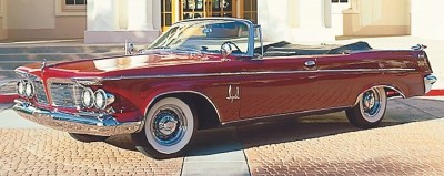 The 1962 Crown convertible, part of the 1960-1963 Imperial Crown line of collectible cars.