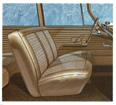 The 1963 Dodge 880 featured a single-height seat rather than a high driver's seat.