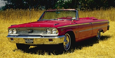 1963 Ford Galaxie 500XL convertible front-three-quarter view