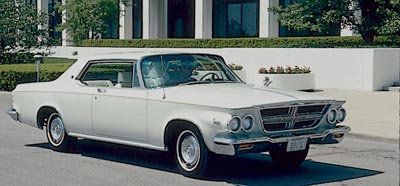 1964 Chrysler 300-K hardtop coupe, part of the 1963-1964 Chrysler 300J/300K series.