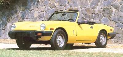For the 1979 Triumph Spitfire, even meatier bumpers added 8.5 inches to the car's length.