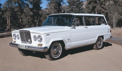 With the exception of adding air conditioning as an option, the 1964 Jeep Wagoneer mostly stood pat.