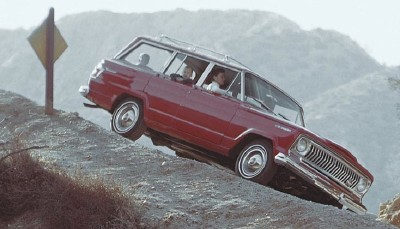 The 1965 Jeep Wagoneer boasted improved safety and performance features.