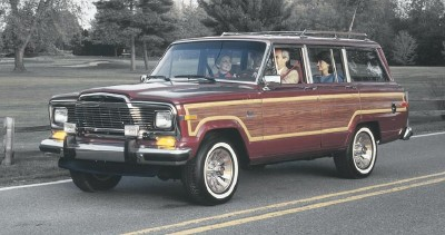 The 1985 Grand Wagoneer incorporated improvements to its suspension and Selec-Trac four-wheel-drive system.