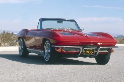 The 1963 Corvette Sting Ray offered the top 360-hp fuel-injected 327 V-8 and the equally desirable four-speed manual gearbox.