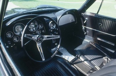 The redesigned 1963 Corvette Sting Ray featured a more user-friendly dash configuration.