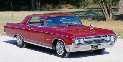 This 1964 Oldsmobile Jetstar I hardtop coupe was part of the 1964-65 Oldsmobile Jetstar I series.