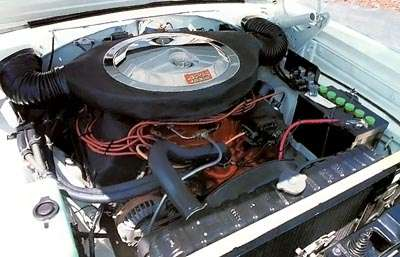 A hemi engine -- one option for the 1966 Dodge Charger fastback.