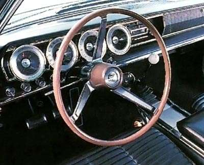 The 1966 Dodge Charger fastback's instrument panel