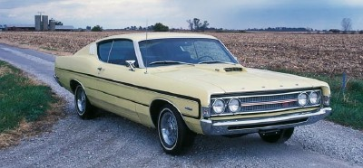 1969 Ford Torino GT fastback coupe, an upper series in the restyled Fairlane line