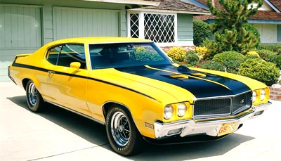 1970 Buick GSX hardtop coupe, part of the 1968-1972 Buick GS line of collectible cars