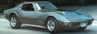 Although the 1971 Chevrolet Corvette suffered a drop in horseower, it was still speedy.
