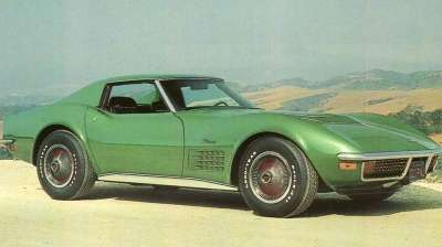The scaled-back engine of the 1972 Chevrolet Corvette was a disappointment for power-seekers.