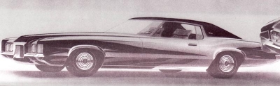 1969 Pontiac Grand Prix sketch