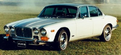 The 1969 Jaguar XJ6 sedan, part of the 1969-1973 Jaguar XJ6/XJ12 series.