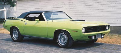 This 1970 Plymouth 'Cuda convertible was part of the 1970-71 Plymouth Barracuda Convertibles line.