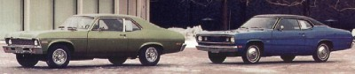 The 1970 Plymouth Duster was conceived to challenge the Chevrolet Nova.
