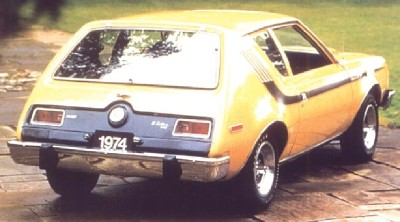The 1974 AMC Gremlin X side stripe looked like a hockey stick.