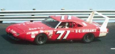Bobby Isaac drove the K&K Insurance Dodge to the 1970 NASCAR Grand National champion­ship.