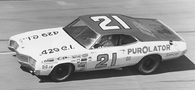 A.J. Foyt was signed to drive the #21 Wood Brothers Purolator Mercury in the 1972 NASCAR season.