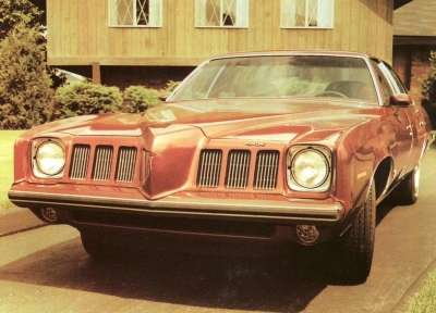 The 1973 Pontiac Grand Am's head-turning grille was just one feature of its distinctive soft front end.