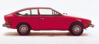 This Alfa Romeo Alfetta GTV coupe was part of the 1975-1979 Alfa Romeo Alfetta GT/GTV/Sprint Veloce line.
