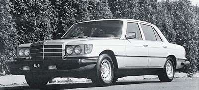1977 Mercedes-Benz SEL 6.9 sedan, part of the 1975-1980 Mercedes-Benz 450SEL 6.9 line of collectible cars