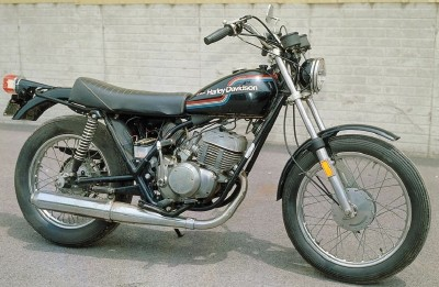 the harley-davidson ss-250 was the largest two-stroke single-cylinder