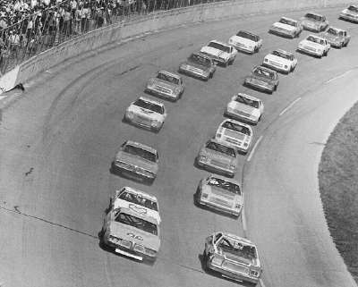 #88 Donnie Allison takes the green flag at the start of the 17th annual Daytona 500 on Feb. 16, 1975.