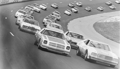 Buddy Baker put his #15 Ford on the pole for the May 4, 1975 Winston 500 at Talladega.