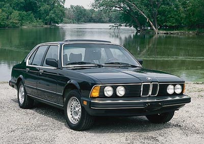 1985 BMW 735i sedan, part of the 1978-1987 BMW 7-series line of collectible cars
