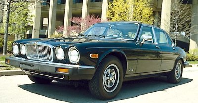 The 1986 Jaguar XJ6 sedan, part of the 1979-1986 Jaguar XJ6 Series III line.