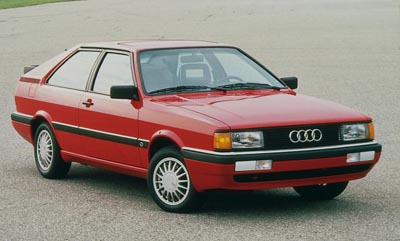 This 1986 Audi Coupe GT was part of the 1981-87 Audi Coupe/Coupe GT series.