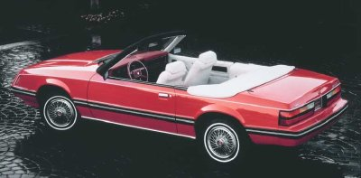 1983 Ford Mustang convertible.
