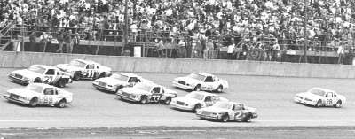 The two-mile Michigan International Raceway once produced some of the most spine-tingling excitement ever seen in NASCAR big-league racing.
