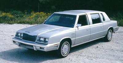 1985 Chrysler Limousine, part of the 1983-1986 Chrysler Limousine & Executive Sedan series.
