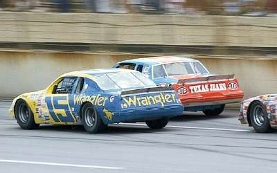 Dale Earnhardt drove Bud Moore's sleek #15 Wrangler Ford to a pair of victories in 1983.