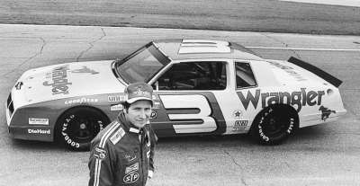 Dale Earnhardt took the Wrangler sponsorship to the Richard Childress operation for the 1984 NASCAR Winston Cup Grand National campaign.