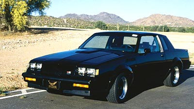 1987 Buick Regal GNX coupe, part of the 1985-1987 Buick Regal Gran National & GNX line of collectible cars
