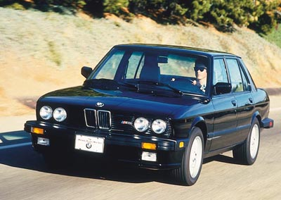 1987 BMW M5 sedan, part of the 1987-1989 BMW M5 line of collectible cars